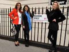 wags danielle o'hara, nicola mclean, bianca slater celebrate the football pools 90th anniversary